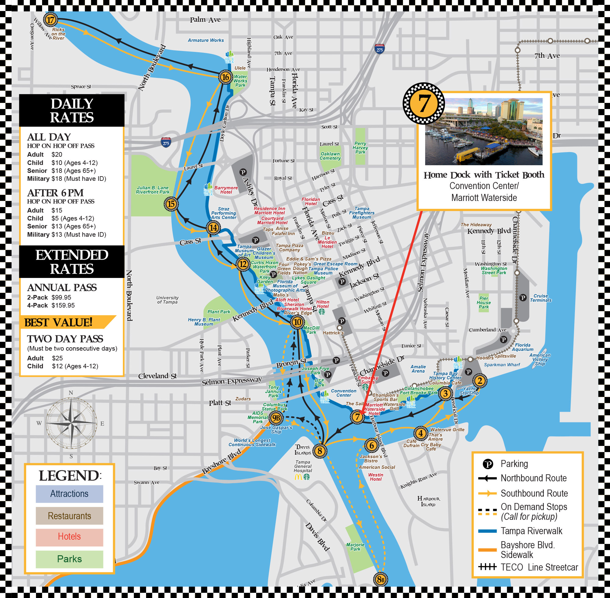 maps and stops information and details pirate water taxi. Black Bedroom Furniture Sets. Home Design Ideas