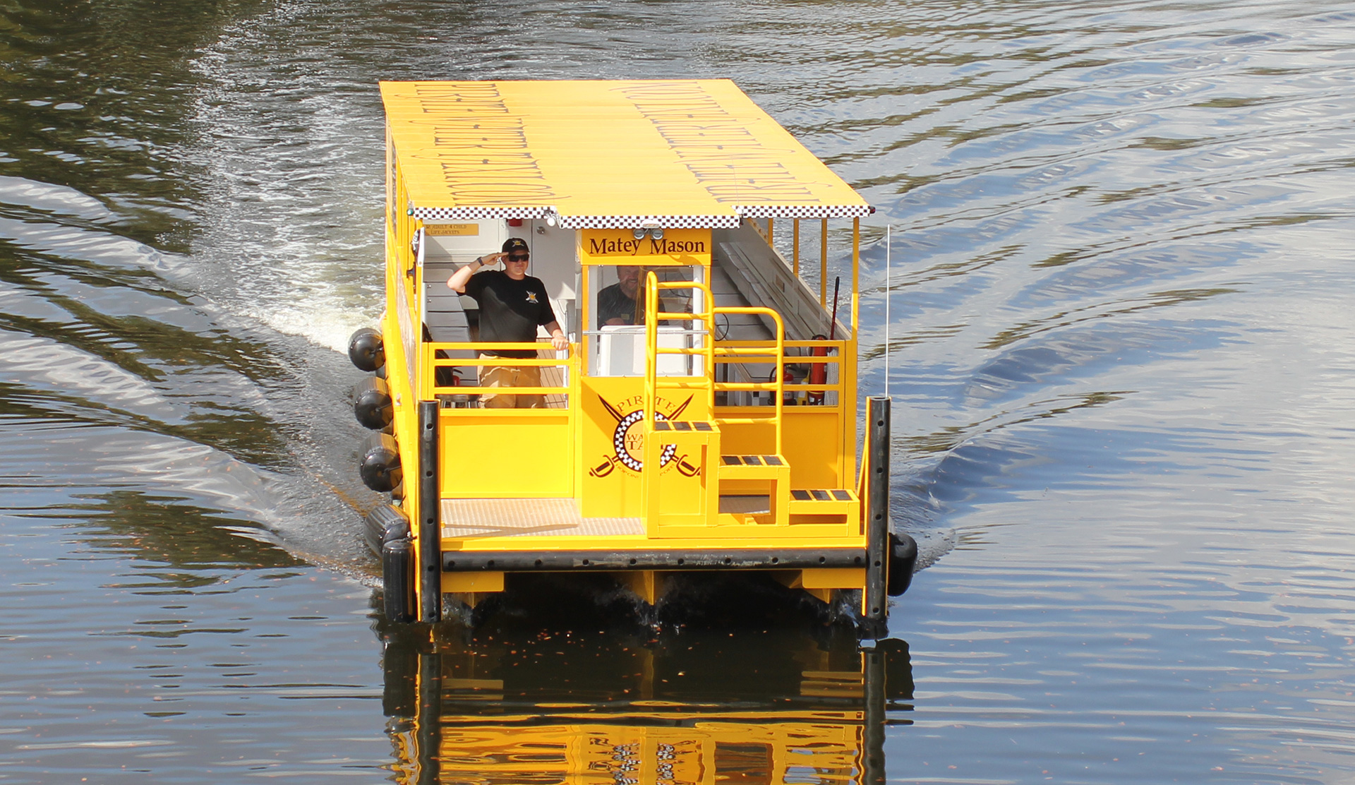 Matey Mason Water Taxi head on